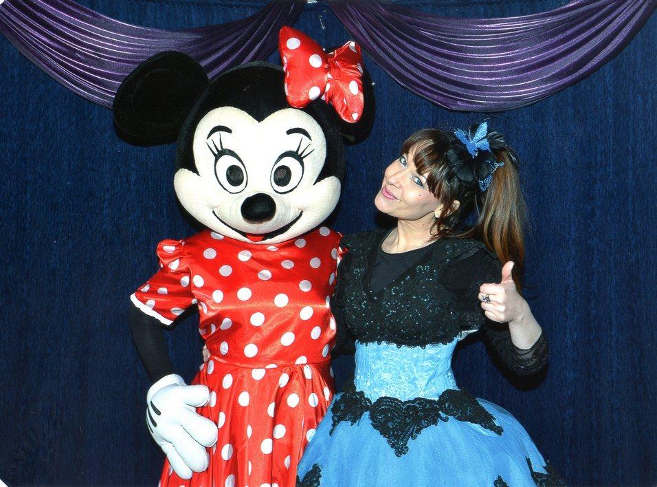 Jinie magicienne avec Minnie